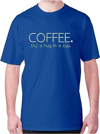 Café. Camiseta de Manga Corta para Hombre, diseño con Texto ...