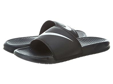 c4f38844b3905 Nike 312618-011  Benassi Swoosh Slide Sandal Black White Unisex