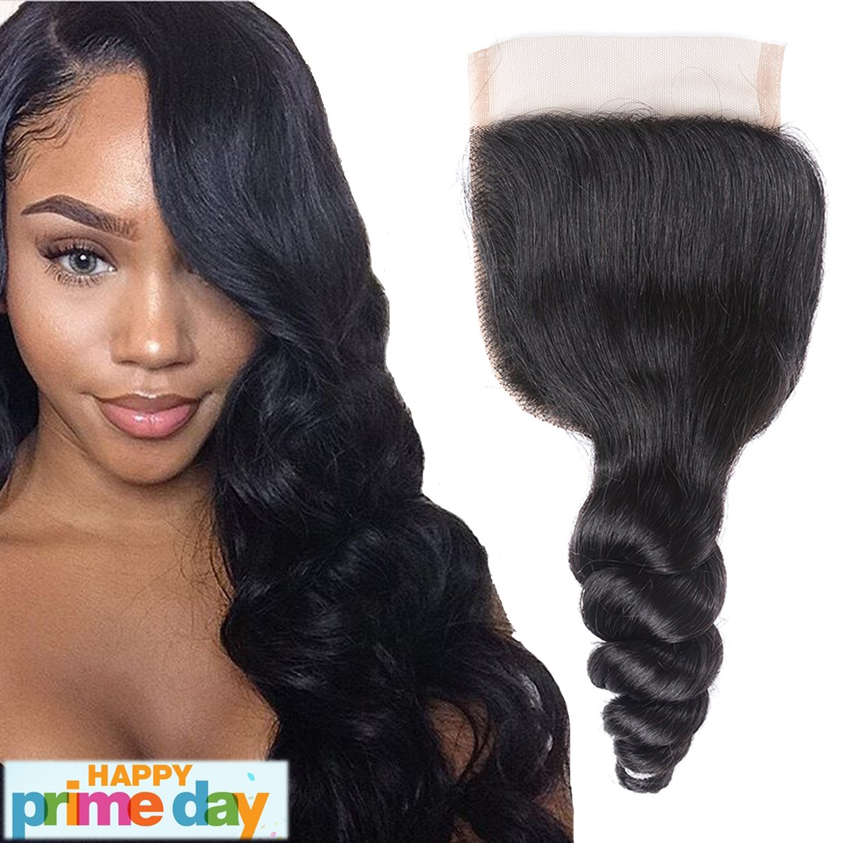 Amazon Li Queen Brazillian Hair Loose Wave Lace Closure Size