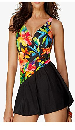 4bd06ae675f92 Miraclesuit Aurora PLUS SIZE Swimdress ~ Rainbow Brights (Plus Size ...