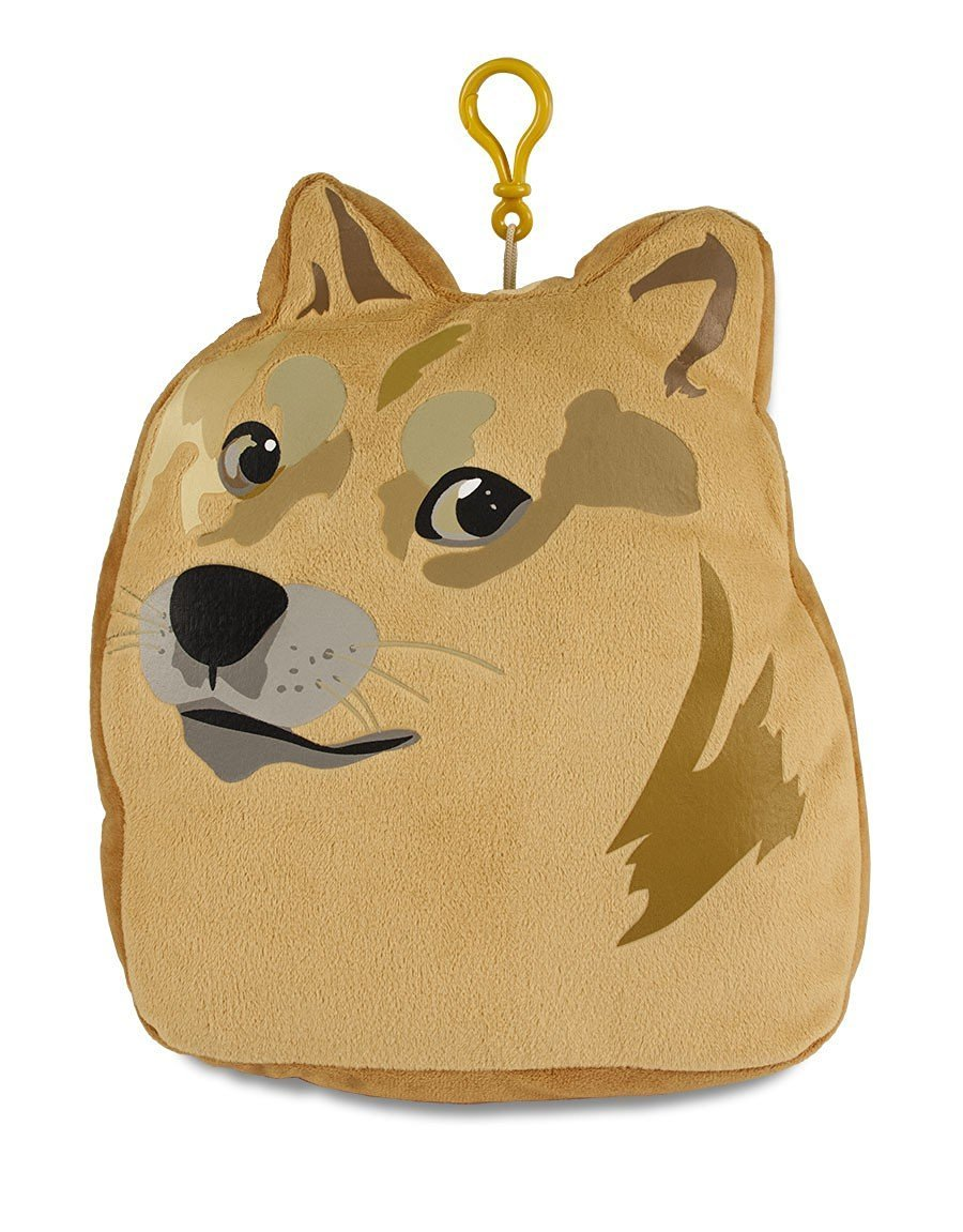 Ultra Pro Doge Plush Pillow with Zippered Pouch