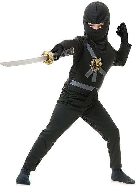 Charades Childs Ninja Avenger Costume, Black, Toddler