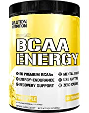 Evlution Nutrition BCAA Energy - High Performance Amino Acid Supplement for Anytime Energy, Muscle Building, Recovery and Endurance, Pre Workout, Post Workout (Pineapple, 30 Servings)