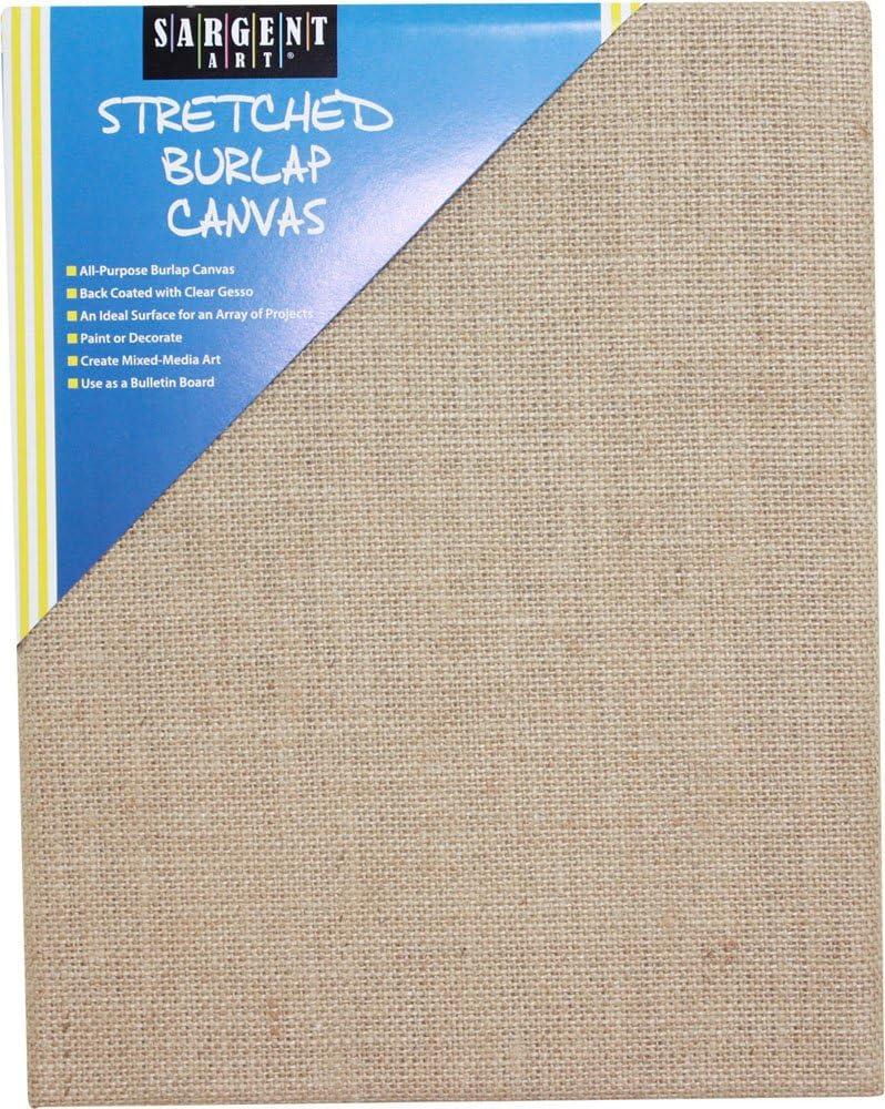 Sargent Art 90-2026 Stretched Burlap Canvas 8 x 10