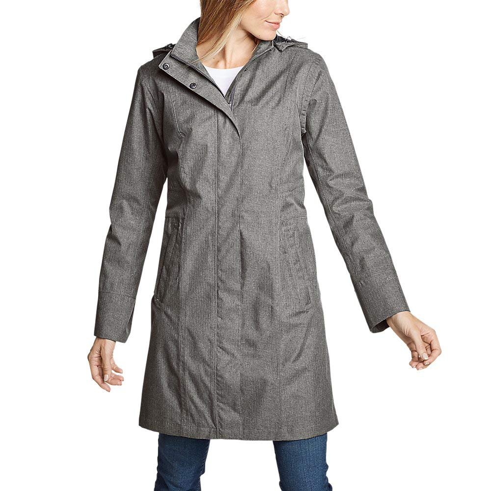 Eddie Bauer Women's Girl on The Go Trench Coat, Dk Charcoal HTR Tall XXL Tall by Eddie Bauer