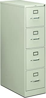 product image for HON 214PQ 210 Series 28-1/2-Inch 4-Drawer Full-Suspension Letter File, Light Gray