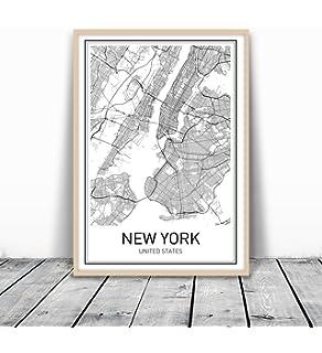 Amazoncom Blueprint Map New York Sue Schlabach United States - Us map blueprint