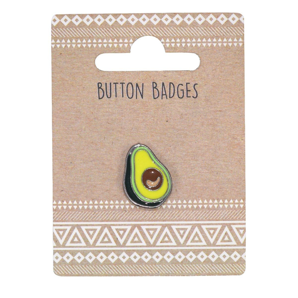 Xpressions Cute Fun Awesome Pin Badge Avocado