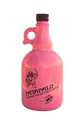 Crema de Tequila Fresa Patapalo - Botella 1L