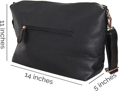 Humble Chic Crossbody Bag - Vegan Leather Satchel Messenger Hobo Handbag  Shoulder Purse. Humble Chic Crossbody Bag - Vegan Leather ... 799fdbae69b5d