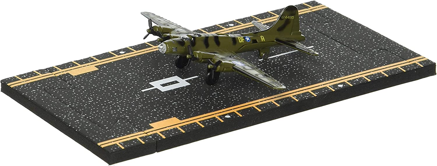 Olive Green Hot Wings B-17 Flying Fortress Jet with Connectible Runway