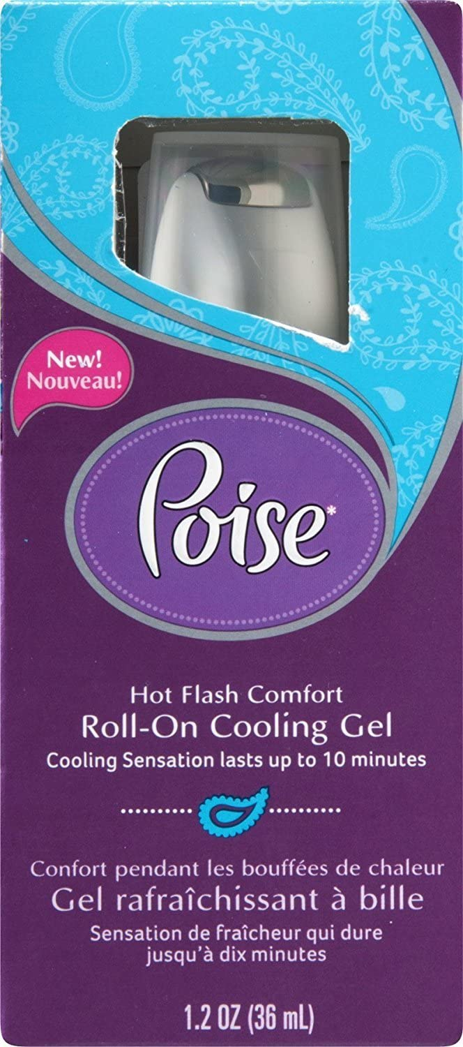 Poise Hot Flash Comfort Roll-On Cooling Gel