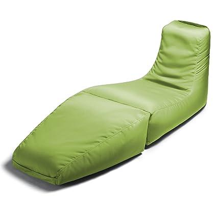 Jaxx Outdoor Prado Bean Bag Lounge Chair, Solid, Lime Green