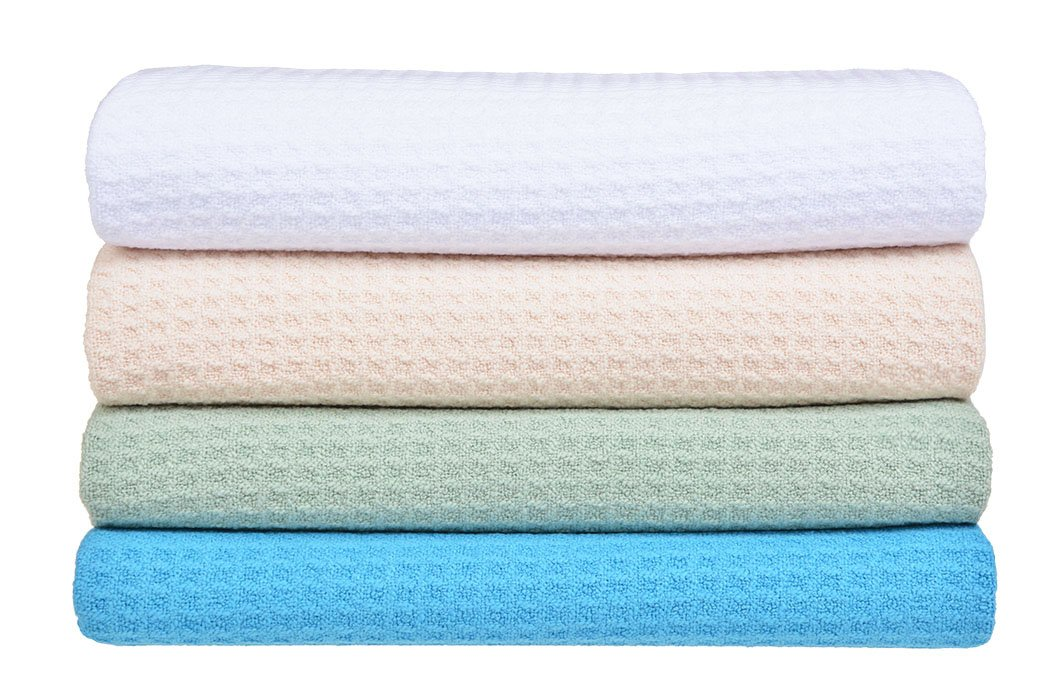 Sinland Microfiber Dish Drying Towels Dish Towles Waffle Weave Kitchen Towels Assorted Colors 16Inchx24Inch 4Pack