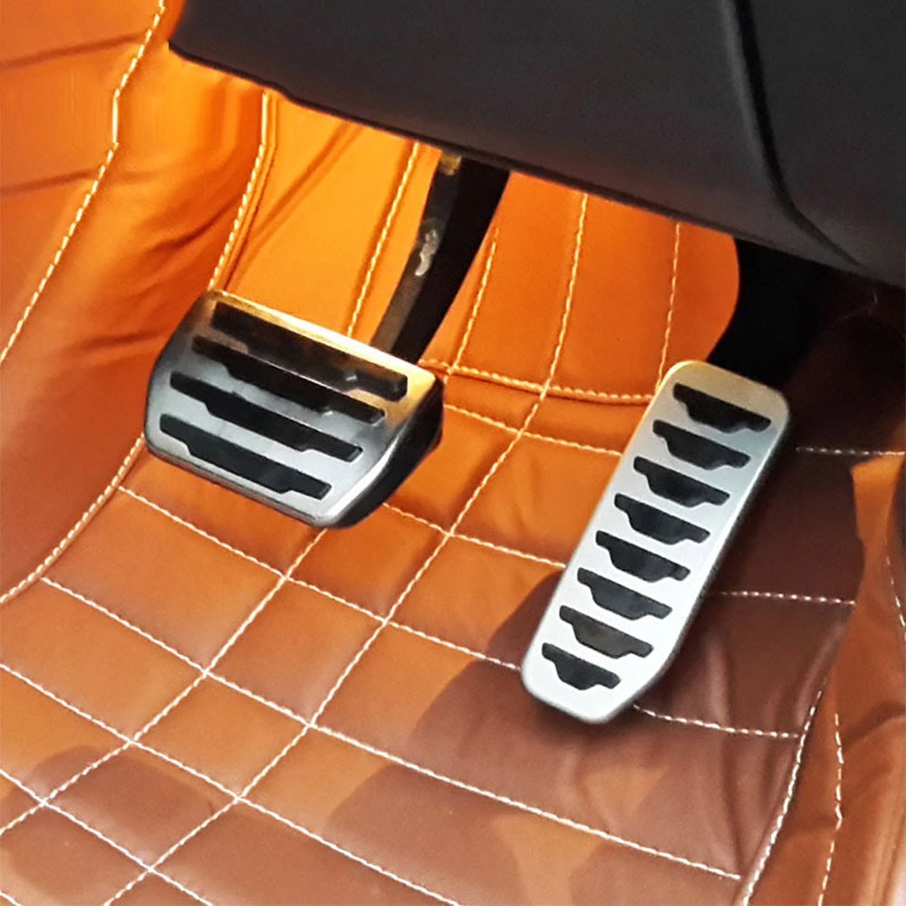 for Jaguar XE F-PACE X761 Stainless Steel Brake Fuel Gas Pedal Pedales Cover Trim METYOUCAR