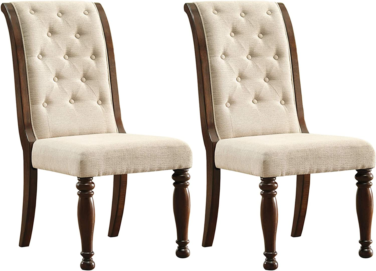 Ashley Furniture Signature Design – Porter Dining Chairs – Set of 2 – Brown