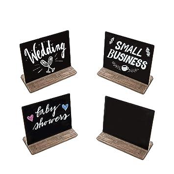 Mini pizarra signos con soportes de madera + 12 unidades de ...