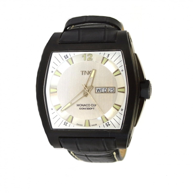 TNG Herren-Armbanduhr Analog Leder Schwarz TG667.30572.03PV