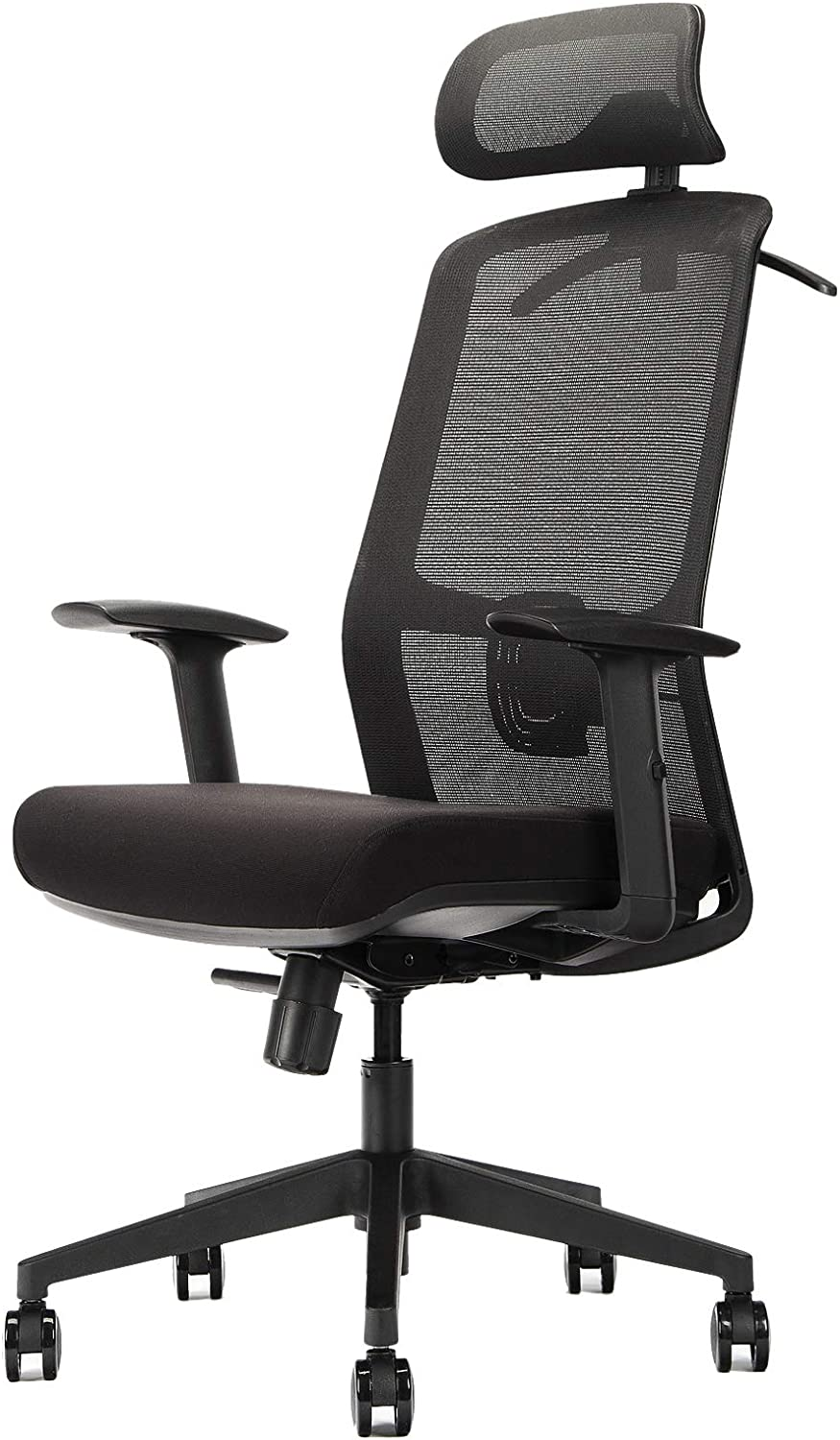 OUTFINE Ergonomic Office Chair Mesh Chair Computer Desk Chair with Adjustable Lumbar Support, Headrest, Armrest, Reclining Angles(Black)