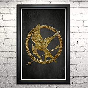 """Hunger Games word art print 11x17"""" Framed 