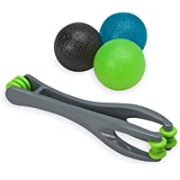 Gaiam Restore Hand Therapy Kit & Components | Hand Therapy Massage Balls, Finger Massager, Hand Grip | Tools for Circulation, Stress, Arthritis and Hand Pain Relief