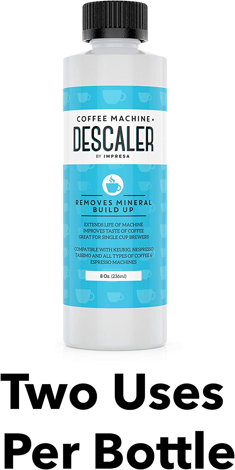 Descaler (2 Uses Per Bottle) - Made in the USA - Universal Descaling Solution for Keurig, Nespresso, Delonghi and All Single Use Coffee and Espresso ...