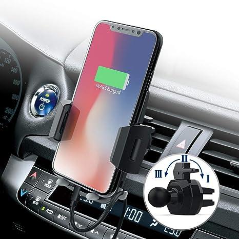 Soporte Móvil para Coche,Avolare® Soporte Universal Smartphone Coche para Rejillas Ventilación,360