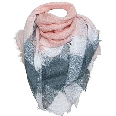 36bb519b65b Chapeau-tendance - Grosse écharpe XXL rose - - Femme  Amazon.fr ...