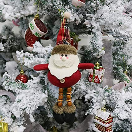 home decorpandaie christmas decorations clearance christmas ornament santa snowman reindeer toy doll hang party