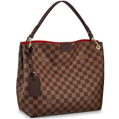 3283361e69bc15 Amazon.com  Louis Vuitton Damier Canvas Ebene Graceful PM Shoulder Handbag  Article  N44044  Shoes