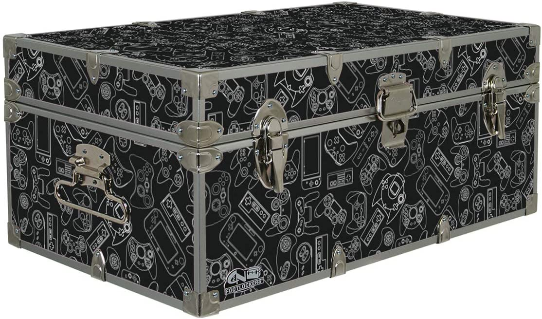 C N Footlockers Designer Storage Trunks – Hi-Tech Themes – 32 x 18 x 13.5 Inches – Durable and Built to Last – Lockable Gamer