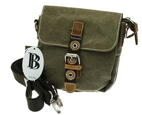 78208ddc Bolla Bags. Small Commando Water Resistant Canvas Flapover Satchel.  (Khaki): Amazon.co.uk: Clothing