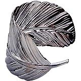 Yazilind large bracelet de manchette Ouvert Or Argent m¨¦tal plaqu¨¦ Bracelet Feuille large: 2Dans Punk Style
