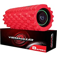 Master of Muscle Vibrating Foam Roller - 8 Speed - Best High-Intensity Vibration for Sports Massage Therapy, Deep Tissue, Myofascial Release - Firm Density Electric Back Massager