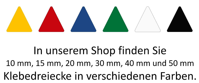 714 Aufkleber, Dreieck, Sticker, 10 mm, rot, PVC, Folie, Vinyl, glänzend, Klebemarkierung, selbstklebend glänzend Stickershop.de® 5055