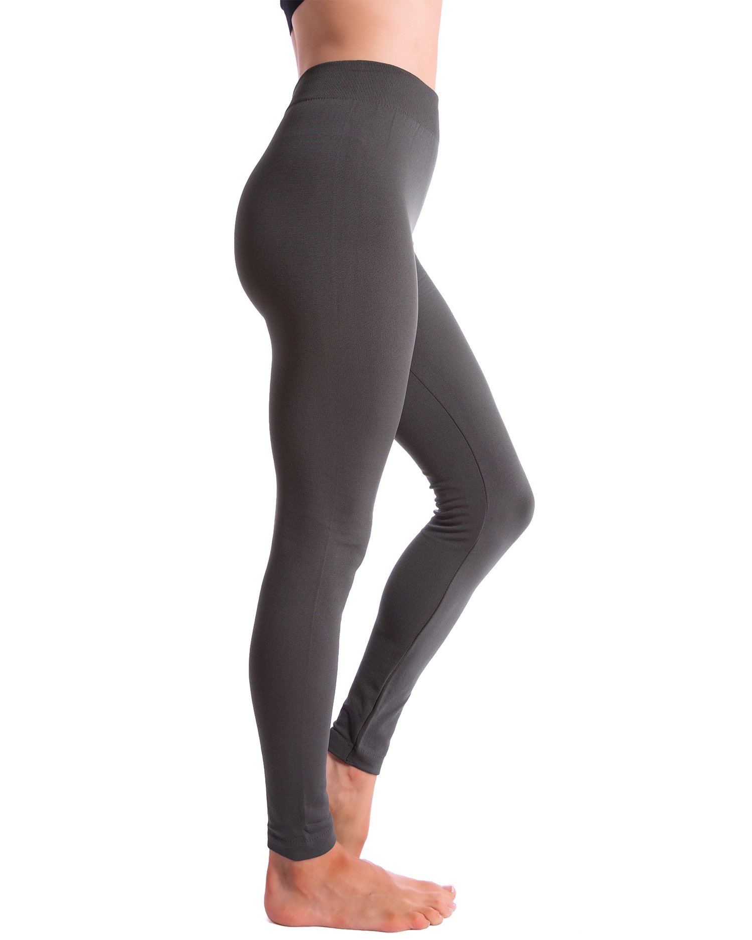 3-Pack Fleece Lined Thick Brushed Leggings by Homma (S/M/L, BLACK/NAVY/GREY) by Homma (Image #2)