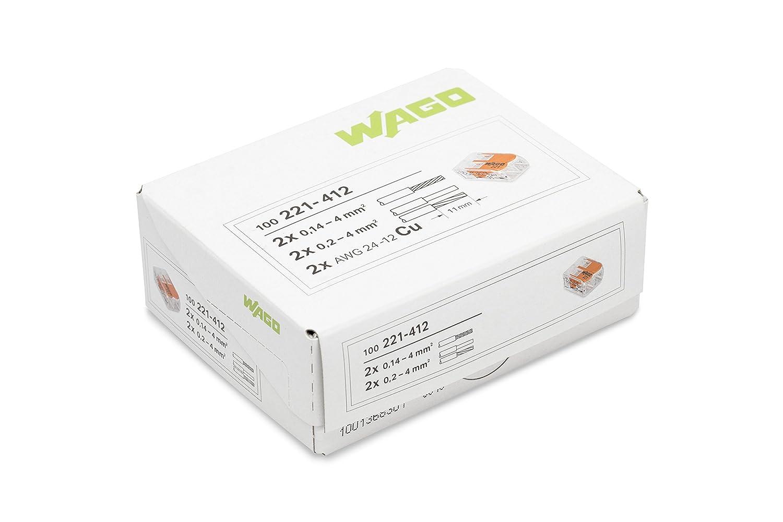 100 Bornes de Connexion automatique S221 2 entr/ées Wago