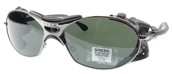 Cébé Gafas de sol - Gris Oscuro, Cuero Negro Protección ...