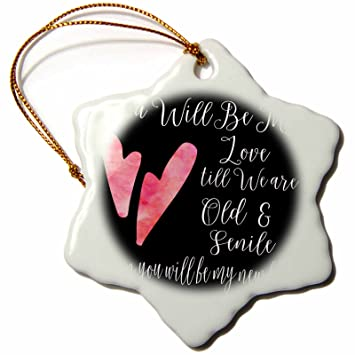 Amazon 60dRose Anne Marie Baugh Quotes You Will Be My Love Gorgeous Love Snowflake Quotes
