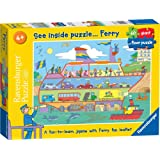 Ravensburger See Inside Puzzle, Ferry, 60pc Giant Floor Jigsaw Puzzle