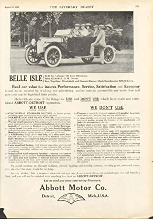 Car Source Detroit >> Amazon Com Belle Isle Abbot Motor Co Detroit Car Ad 1913