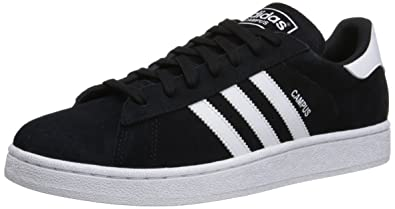 adidas Originals Men's Campus Fashion Sneaker,Black/White/Black,7.5 ...