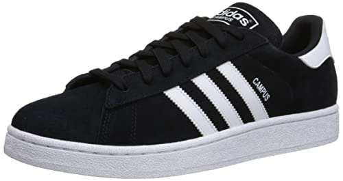 designer fashion 2d3f2 5e1e2 adidas Originals Men s Campus Fashion Sneaker,Black White Black,7.5 ...