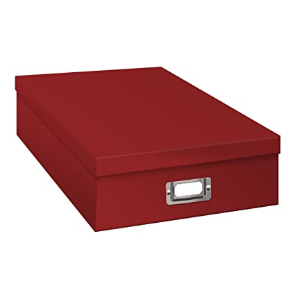 Merveilleux Pioneer Jumbo Scrapbook Storage Box, Red