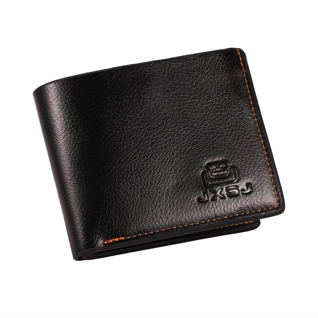 Vansop Mens Casual Pressed Printing Two-Folded Square Short Wallet
