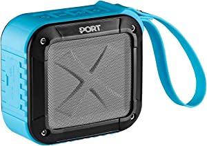 Waterproof, Portable Bluetooth 4.0 Speaker by PORT | Rechargable, Wireless, Powerful 5W Audio Driver, Compatible with All Bluetooth Devices | Marine Speaker System for iPhone, Android, iPod, (Blue)