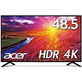 Acer 4Kモニター EB490QKbmiiipfx HDR Ready対応/48.5インチ/I PS/半光沢/3840x2160/16:9/4ms/HDMI/ミニD-Sub15ピン/DisplayPort