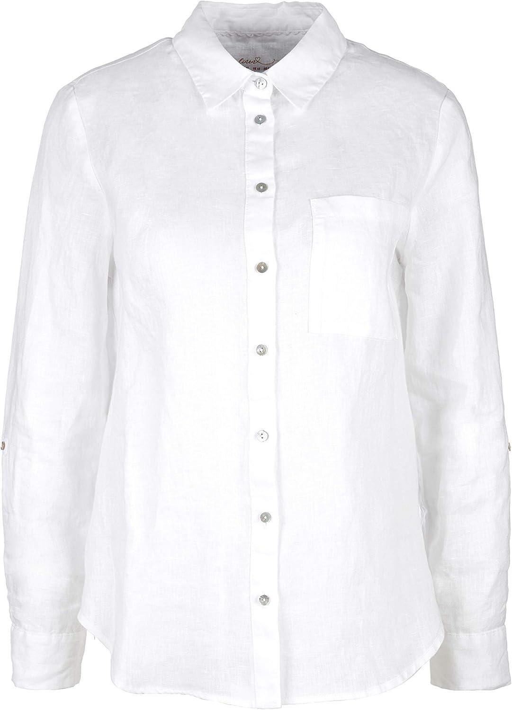 s.Oliver Bluse Langarm Camicia da Donna 0100 White