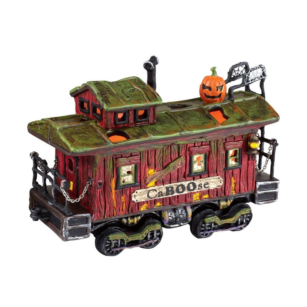 Department 56 Snow Village Halloween Haunted Rails Caboose by Department 56