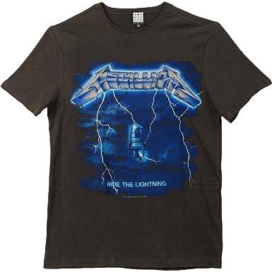63c1277bcb61 Amazon.com  Metallica Men s Ride The Lightning Slim Fit T-Shirt ...